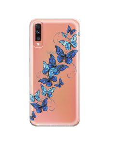 Husa Samsung Galaxy A70 Lemontti Silicon Art Butterflies