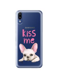 Husa Samsung Galaxy M10 Lemontti Silicon Art Pug Kiss