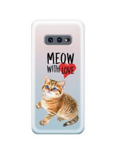 Husa Samsung Galaxy S10e G970 Lemontti Silicon Art Meow With Love