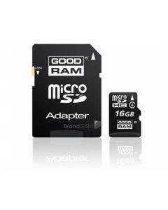 Card Memorie Goodram MicroSDHC 16 GB + Adaptor SD