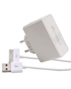 Incarcator Retea 2.1A Dual USB Procell cu cablu iPhone 4/4S