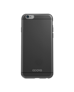 Husa iPhone 6/6S Odoyo Silicon Slim Edge Graphite Black (0.6mm)