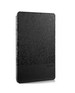 Husa iPad Mini 4 Comma Charming Black (motiv floral embosat)