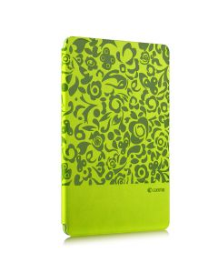 Husa iPad Mini 4 Comma Charming Green (motiv floral embosat)