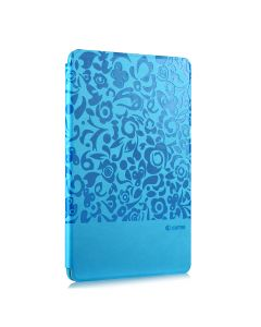 Husa iPad Mini 4 Comma Charming Blue (motiv floral embosat)