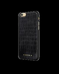 Carcasa iPhone 6/6S Occa Skin Black (piele naturala)