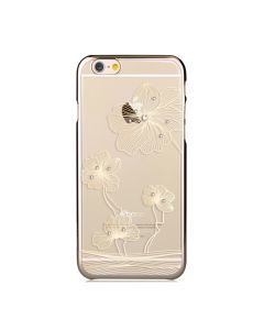 Carcasa iPhone 6/6S Comma Crystal Flora Champagne Gold (Cristale Swarovski®, electroplacat, protecti