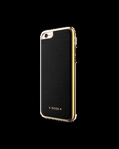 Carcasa iPhone 6/6S Occa Lizard Black (piele naturala, protectie margine 360°)