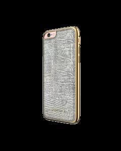 Carcasa iPhone 6/6S Occa Lizard White (piele naturala, protectie margine 360°)