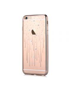 Husa iPhone 6 Plus Devia Silicon Meteor Champagne Gold (Cristale Swarovski®)