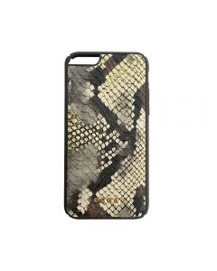 Carcasa iPhone 6/6S Occa Snake Yellow (piele naturala, protectie margine 360°)