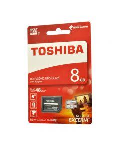 Card Memorie Toshiba Exceria MicroSDHC 8 GB Clasa 10 + Adaptor SD
