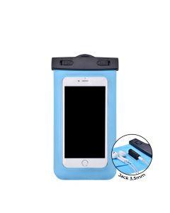 Husa Universala Devia Subacvatica Blue (pana la 5.5'', cu adaptor audio 3.5 mm, armband si agatatoar
