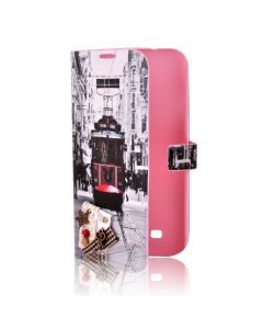 Husa Book Samsung Galaxy S4 i9500 Lemontti Happy Life City