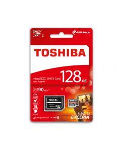 Card Memorie Toshiba Exceria MicroSDHC 128 GB Clasa 10 + Adaptor SD (90MB/s)